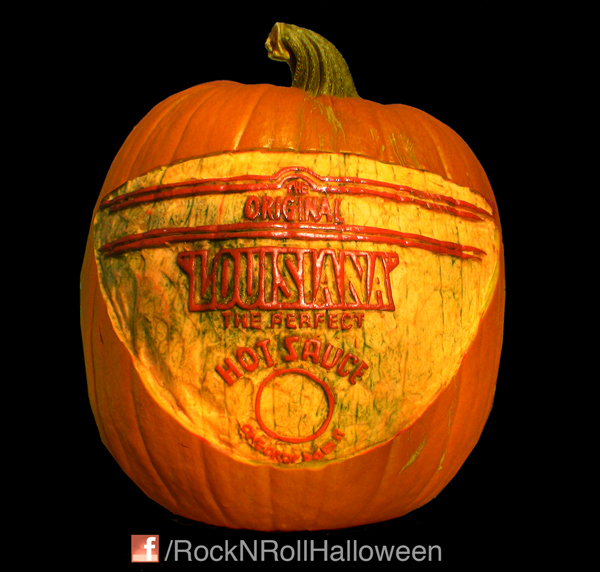 Louisiana Hot Sauce Carved Pumpkin