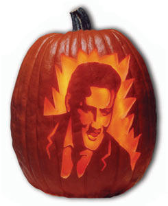 rock n roll halloween, elvis pumpkin
